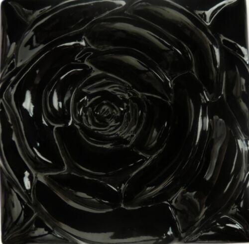 Kitchen Backsplash Tile--Stone Tile Inserts-Sculpture-Wall Art The Black Rose