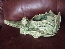 Vintage Original McCoy Pottery Alligator Planter. Very Cute. Look!.