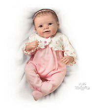 Sadie Baby Doll by Ashton-Drake Weighted - breathing - Coos - Heartbeat