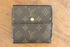 Vintage-Louis-Vuitton-LV-Monogram-Trifold-Snap-Wallet-Authentic