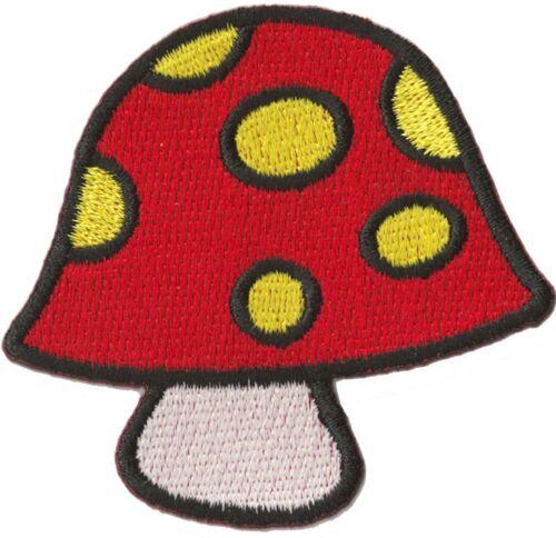 Patche thermocollant écusson patche Champignon rouge patch