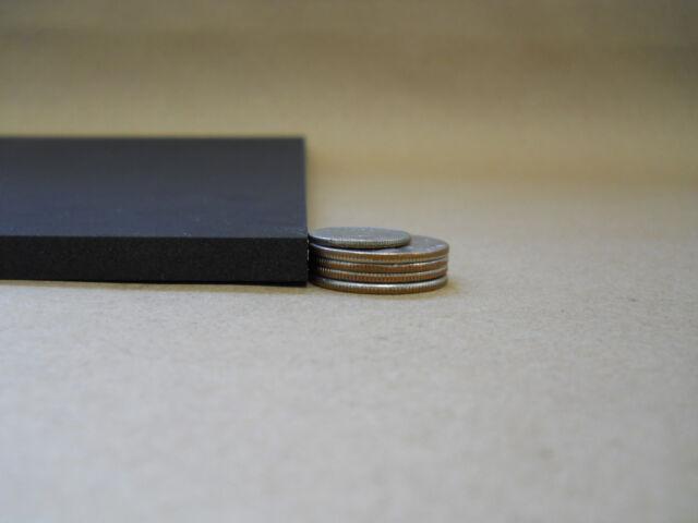 """1pc 12mm x 13""""x19"""" EVA foam sheet in black."""