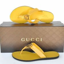 GUCCI New sz 34 - 4 Womens GG Guccissima Thong Sandals Flats Shoes Slides Flops