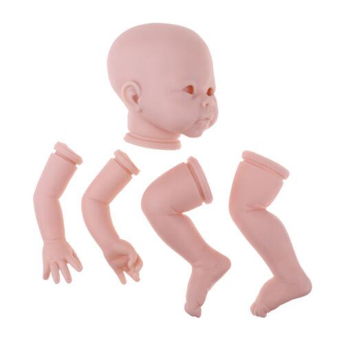 "Handmade 22/"" Reborn Kits Silicone Head Limb Mold Blank Baby Doll DIY Accs #1"