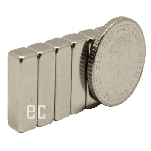 10pcs 10mm x 4mm x 4mm Strong NdFeb 10x4x4 mm Oblong Cuboid Neodymium Magnets
