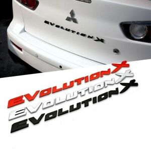 Mitsubishi-Lancer-EVOLUTION-X-Rear-Trunk-Badge-in-SILVER-CHROME