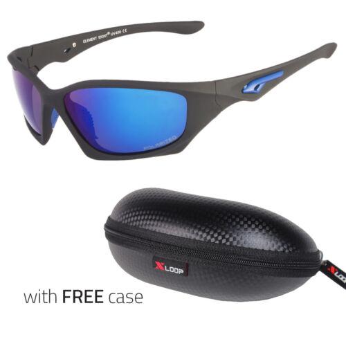 Polarized Wrap Around Men Glasses Outdoor Sports Driving Sunglasses Blue