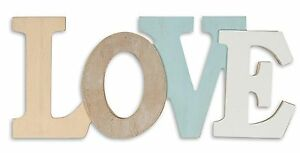 Lettere Di Legno Da Appendere : D scritta love legno cm bianco blu natura lettere da