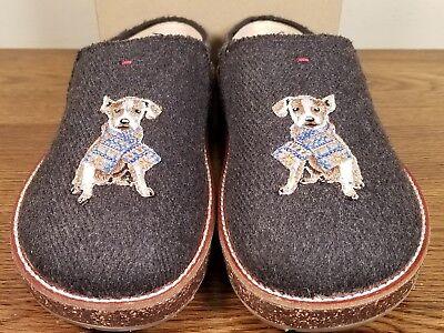 ED Ellen Degeneres Applique Slippers Tillie Gray Dog Women/'s 6 New