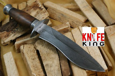 "Knife King ""Cobra"" Damascus Handmade Bowie Hunting Knife. Comes with a sheath."