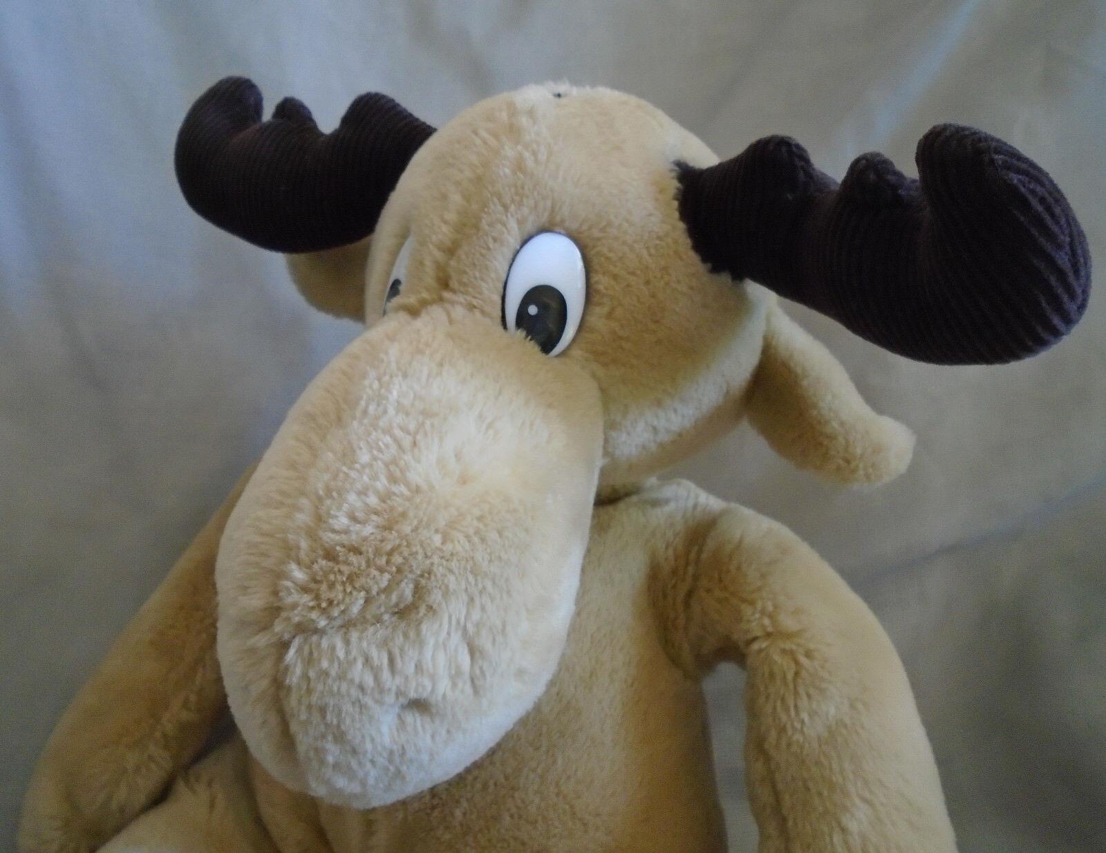 Vintage 1987 Commonwealth Moose Plush Stuffed Animal Toy Tan Brown Brown Brown 14  Seated 26fa0b