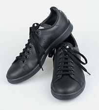 New. ADIDAS RAF SIMONS STAN SMITH Black Leather Sneakers Shoes 6.5/39.5 $455