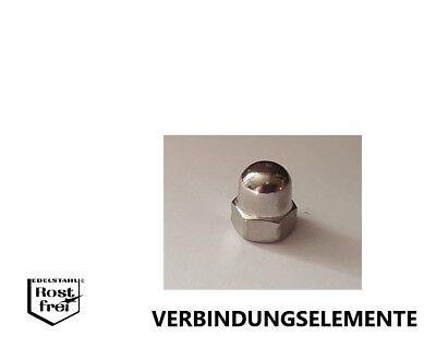 Schwarze Hutmuttern 5, M6 Edelstahl DIN 1587 A2 M3 M4 M5 M6 M8 M10 Sechskant-Hutmutter hohe Form