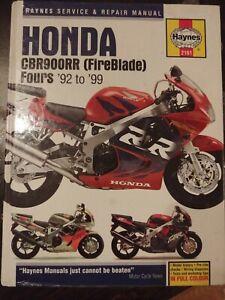 Haynes Repair Manual Honda CBR900RR (Fireblade) Fours 1992-1999 Hardback  2161