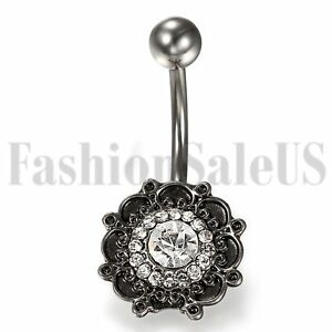 Popular-Bohemia-Navel-Belly-Ring-Zicon-Button-Bar-Barbell-Body-Piercing-Jewelry
