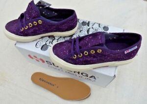 Chaussures Dans Basse sangallosatinj 11 Filles Toile Prune Pour En Superga 2750 Uk fwZZq7