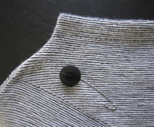 Ponchoverschluß Horn-métal noir et argent fermeture aiguille bijoux Aiguille 11 CM