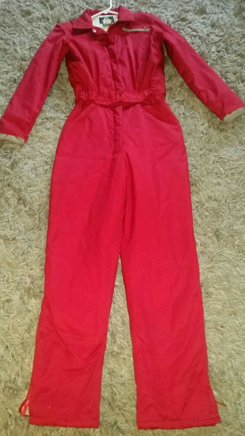 Vintage Red Women's Pro Shops Outdoors Thinsulate 2 Pc Snow  Ski  Hunting Suit