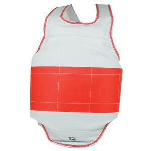 Martial Arts, Karate, TKD, Reversible Stripe Chest Guard - All Sizes!