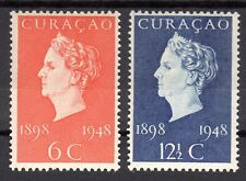 Curacao - 1948 Golden Jubilee Wilhelmina Mi. 284-85 MNH