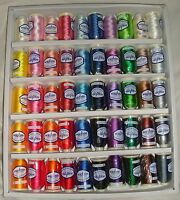 Marathon Embroidery Machine Thread Rayon 50 of the Most Popular Colours