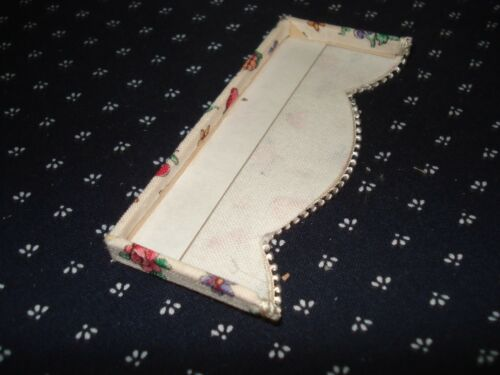"3 /"" W x 1 1//4 /"" L Tiny  Fruit /& Flowers Valance Dollhouse Curtains"