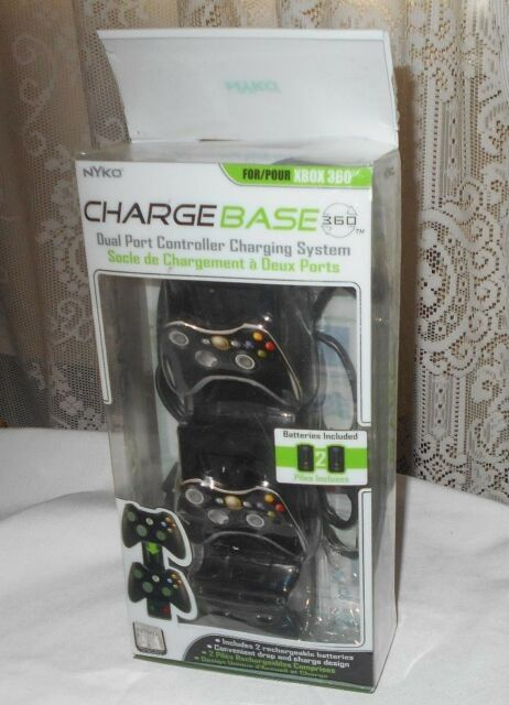 NYKO FOR XBOX 360 CHARGE BASE DUAL PORT CONTROLLER CHARGING SYSTEM