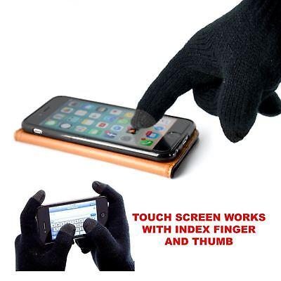 Affidabile Da Uomo Isolamento Termico Touch Screen Smartphone Dispositivo Inverno Caldo Guanti Neri-mostra Il Titolo Originale