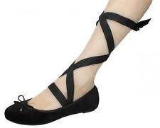 Spot On Ladies Blacke suedette Ballerina Style Shoe style F8985 sizes 3-8