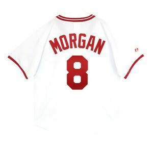Details about Joe Morgan Cincinnati Reds 1975 Cooperstown Home White Jersey Men's (M-2XL)