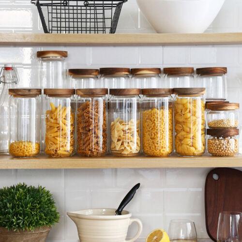 350-1700ML Spice Jar Condiment Storage Seasoning Bottle Container Kitchen Box