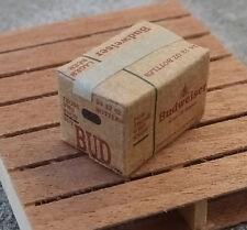 Budweiser Beer Case Miniature 1/24 Scale G Scale Diorama Accessory Item