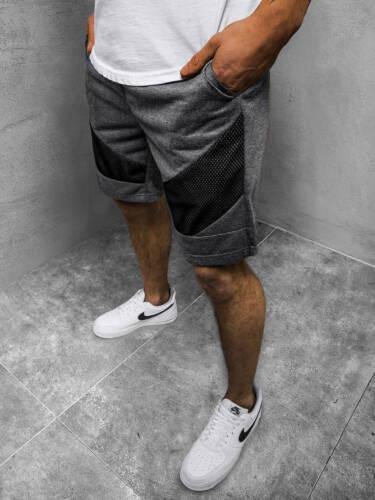 Kurzhose Sporthose Jogging Fitness Unifarben Sportshorts Herren OZONEE KS2503Z
