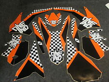 KTM SX/SXF 125-450 2013-2015 One Industries Checkers graphics decal kit 1G02