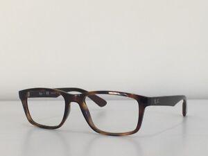 94c104a65428c 98 Ray Ban RB 7063 5577 Rectangle Havana Eyeglasses Optical Frame 54 ...