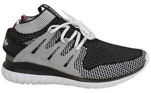 Adidas-Tubular-Nova-PK-Lace-Up-White-Black-Grey-Sock-Mens-Trainers-S74918-B14A