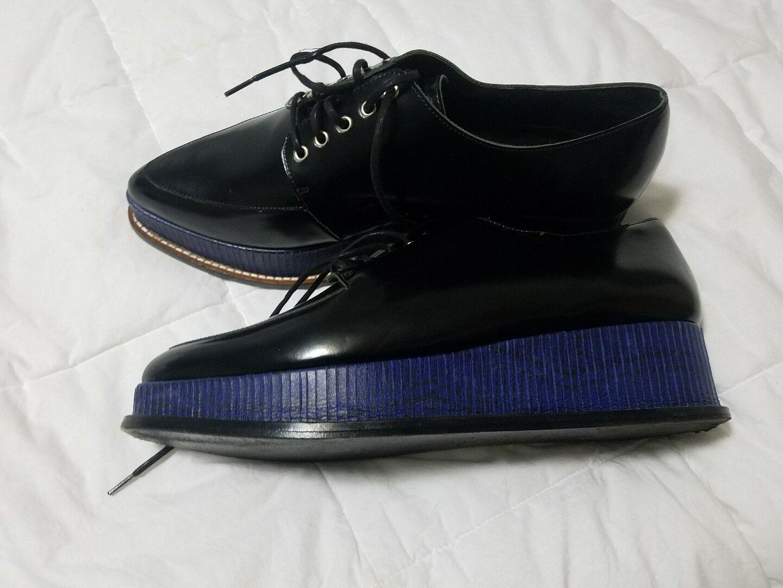 La ceremonia de apertura Eleanora Negro Cuero Con Cordones 41 Plataforma Zapato Oxford 41 Cordones 6c3bd5