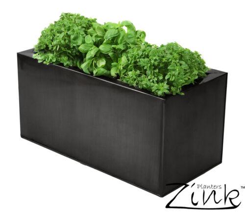 Verzinkter Kräuterpflanztopf Schwarz//Titanium Blumenkübel Pflanzkübel Übertopf