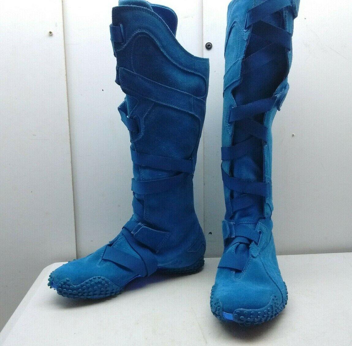 outlet online economico PUMA Special Edition blu Suede Suede Suede Tall Kneel Hi scarpe da ginnastica avvio Donna  scarpe 8W 38.5  grande sconto