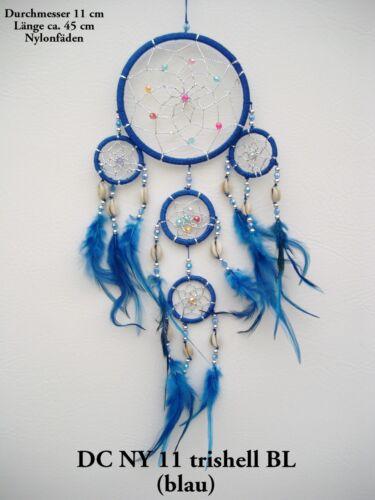 NEW HANDMADE NATIVE AMERICAN INDIAN STYLE DREAM CATCHER BLUE //dcny11trishellblu