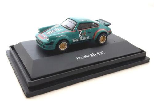 """1:87 Neu /""""Vaillant/"""" grün SCHUCO PORSCHE 934 RSR  #9"""