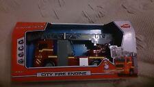 DICKIE -SOS CITY FIRE ENGINE - MAN FEUERWEHR LEITERWAGEN - NEU ovp Günstig