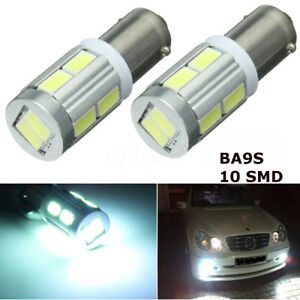 2X-BA9S-H6W-LED-LUCI-POSIZIONE-CANBUS-ERROR-LAMPADINE-10SMD-PER-BMW-F30-F31