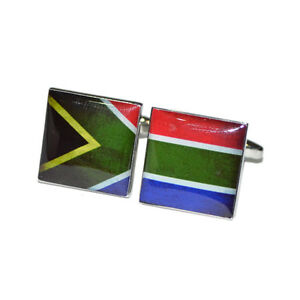 Image Is Loading Distressed South Africa Split Flag CUFFLINKS AFRICAN Mens
