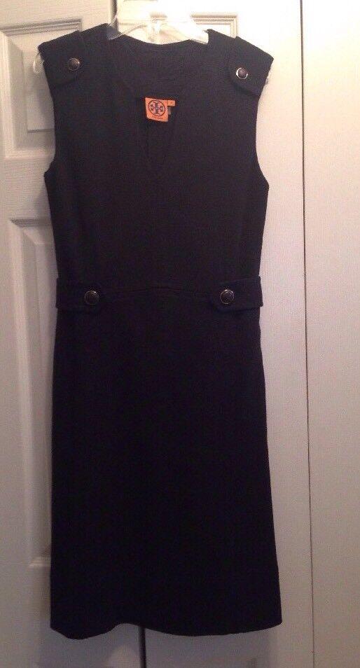 Tory Burch Woherren schwarz Knit Sleeveless Dress Größe S