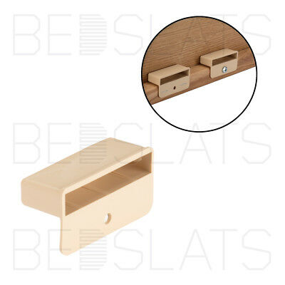 53mm x 12mm Depth Single Bed Slat Holders Caps for Wooden Bed Frames Brown