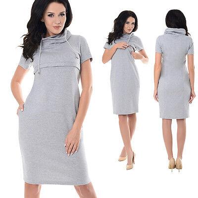 GüNstig Einkaufen Purpless Maternity New Nursing Breastfeeding Funnel Neck Short Sleeve Dress 6225