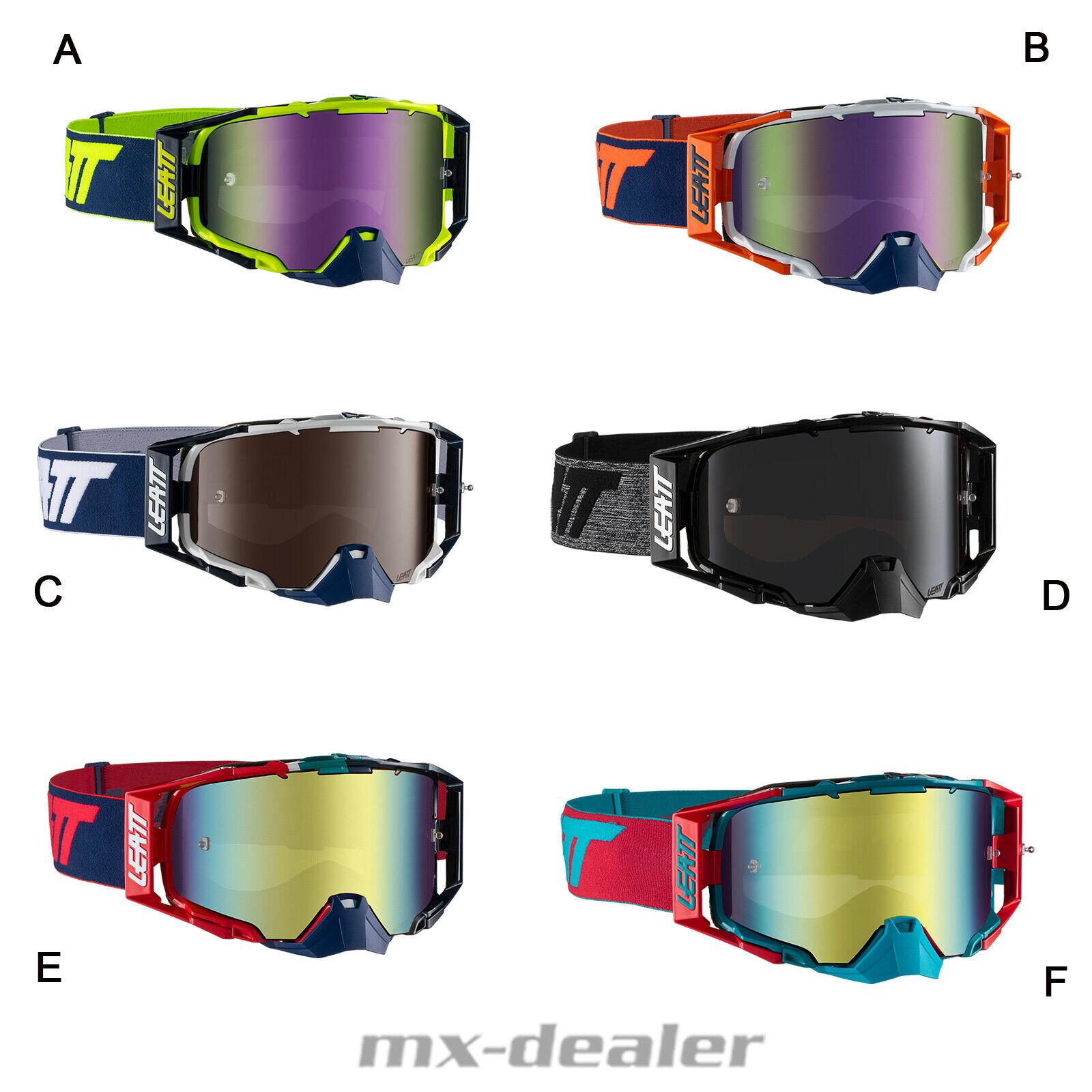 Leatt Velocity 6.5 Iriz Crossbrille tous Miroir Enduro MX Motocross Lunettes