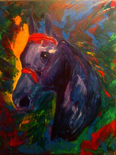 6 x 8 Art Colorful Horse Ceramic Mural Backsplash Bath Tile #1605