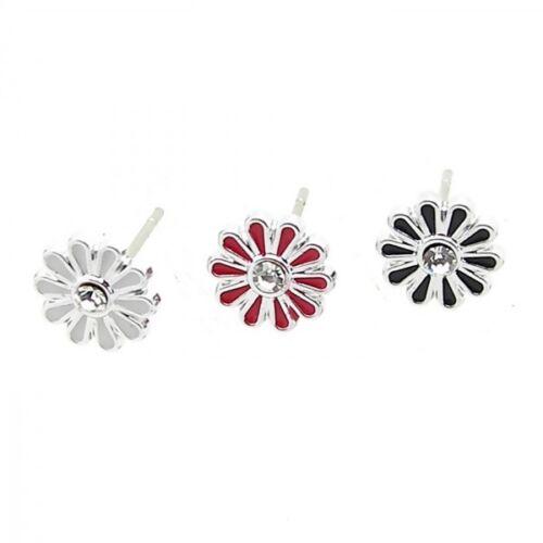 1 pares de pendientes cereza araña estrella flor SMILY calavera cruz blanco negro
